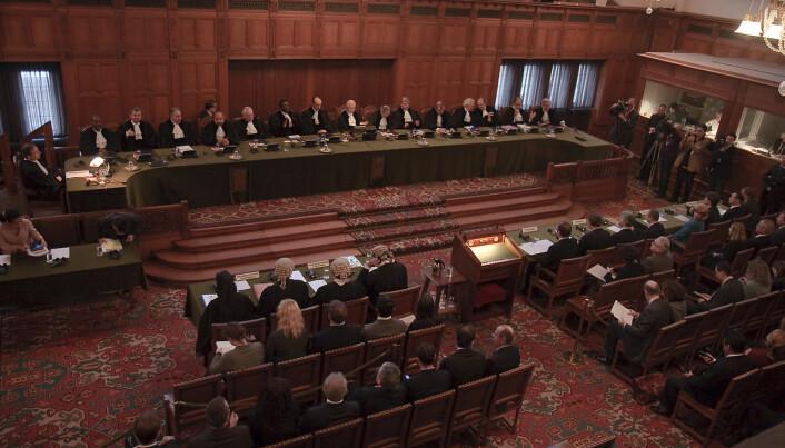 Den internasjonale domstolein i Haag er en institusjon som skal forvalte rettferdighet.