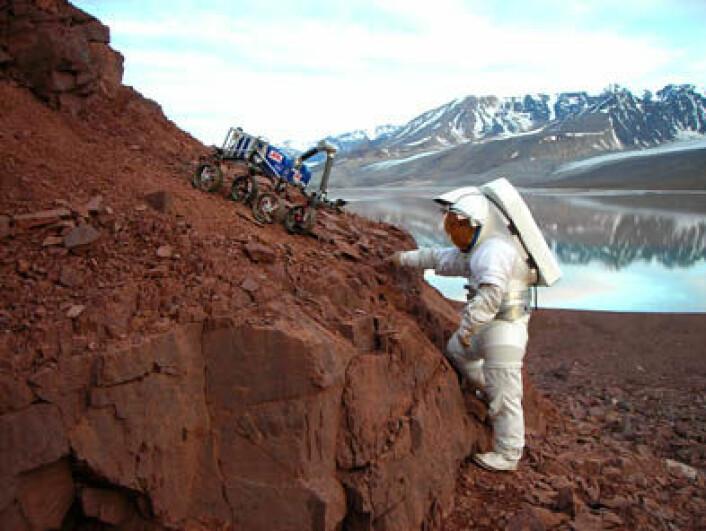 Den golde naturen og det krevende miljøet på Svalbard kan brukes til å trene astronauter som skal til andre planeter. (Foto: AMASE/Kjell Ove Storvik)