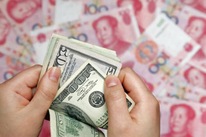 Dollaren står for fall som enerådende verdensvaluta, mener amerikansk økonom. Kinesisk yuan (bildet) og euro blir seriøse konkurrenter. (Foto: iStockphoto)