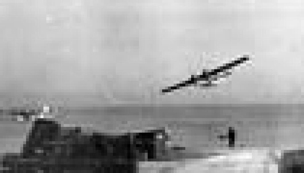 Catalina-fly over basen i Woodhaven i Skottland under 2. verdenskrig.