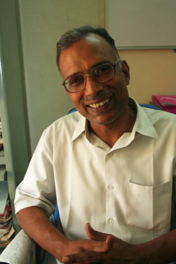 Professor K. C. Suri ved University of Hyderabad. (Foto: Asle Rønning)