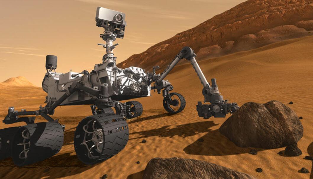 Småstein på Mars hinter om vann