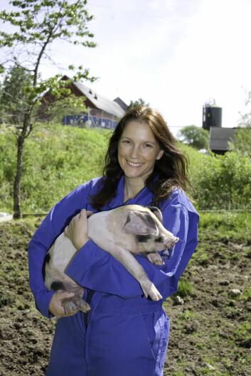 Eli Grindflek har forsket på gris i over 16 år. (Foto: Elin Fugelsnes)