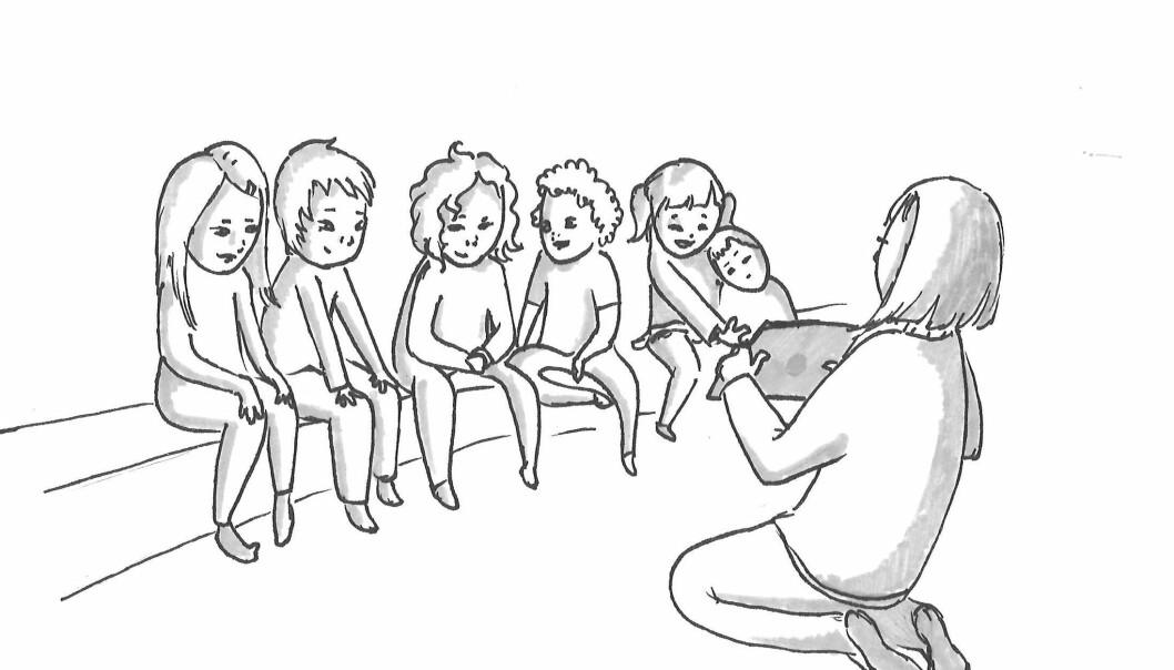 Dersom målet er samtalebasert lesing, er det vise-strategien som virker best. Der holder barna og barnehagelæreren fokus på fortellingen.