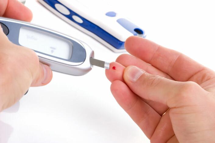 Rundt 150 000 nordmenn har diabetes type 2.