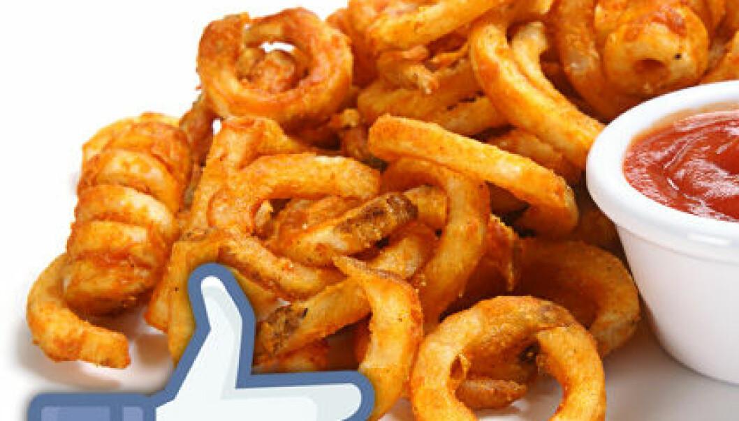 De smarte liker krøllete pommes frites på Facebook