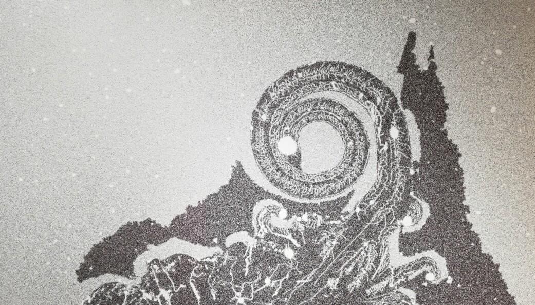 Nærbilde av det som skjer i en fettmembran på en overflate.