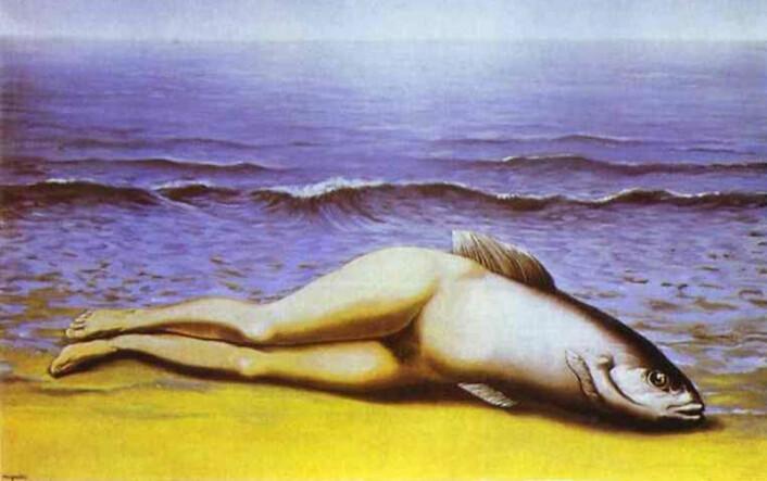 Maleriet Collective invention av Magritte. (Foto: (Maleri: René Magritte))