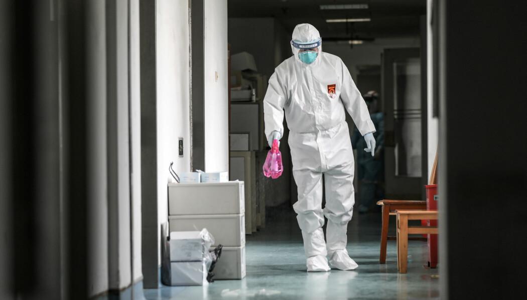 Forskere tror legemiddelet remdesivir kan brukes på de som har blitt smittet av det nye koronaviruset. Bildet er fra Jinyintan hospital i Wuhan.