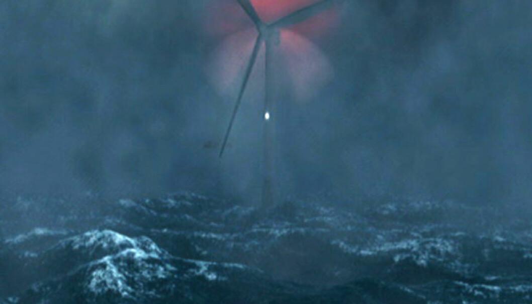 Animasjon av Hywind-prosjektet (Illustrasjon: Statoil)