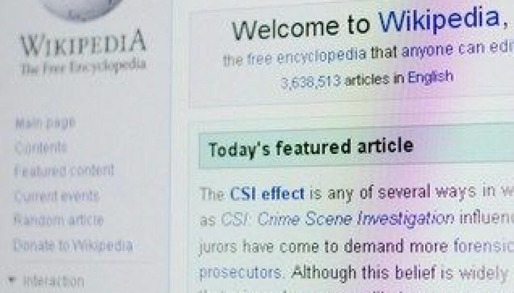 De fleste norske skoleelever vet at informasjonen de finner på Wikipedia kan være feil. Colourbox
