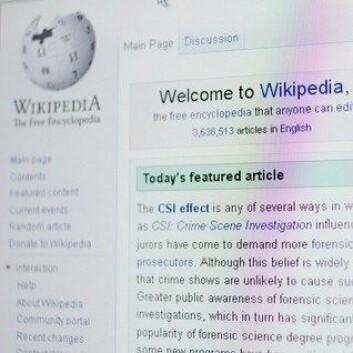 De fleste norske skoleelever vet at informasjonen de finner på Wikipedia kan være feil. (Foto: Colourbox)