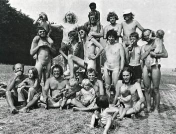 Fra den danske Mandebevægelsens øy-leir i 1976. Den danske Mandebevægelsen hadde stor innflytelse på den norske Mannsbevegelsen. (Foto: Ernst Nielsen, publisert med tillatelse fra Spartacus Forlag)