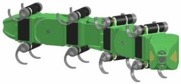 Slangeroboten Mamba består av moduler som kan ha ulike egenskaper og jobbe under vann. (Foto: (Ilustrasjon: RobotNOR))