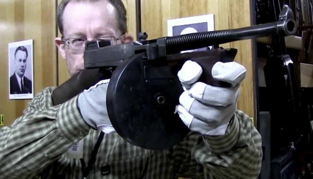 Maskinpistol fra gangstertiden