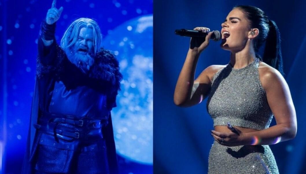 De to favorittene til Melodi Grand Prix 2020-finalen i Norge. Rein Alexander sang om sorg, smerte og mørke i hjertet, mens vinneren Ulrikke Brandstorp sang om mislykket kjærlighet.