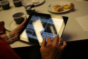 Fem pasienter i Trondheim tester nå en løsning med nettbrett og en skreddersydd app. (Foto: Sintef)