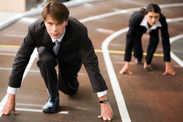 Vi er ikke alltid like selvstendige i konkurranser. Faktisk kan vi ha en tendens til å følge motstanderens fart, fram for å gjøre ting raskere, viser en ny undersøkelse. (Illustrasjonsfoto: www.colourbox.no)