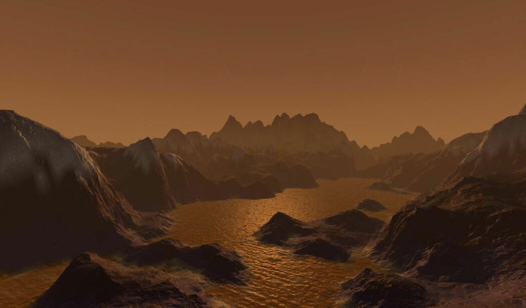 Saturns måne Titan kan minne litt om jorda. Den har flytende væske på overflaten, fjell, regn og tykk atmosfære. Men har den liv?