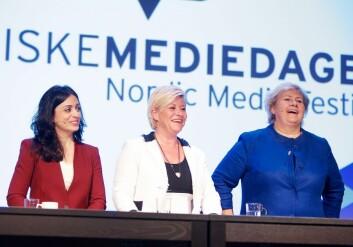 I omtala av kvinnelege politikarar er kjønn framleis i forgrunnen. (Foto: Norske Mediedager)