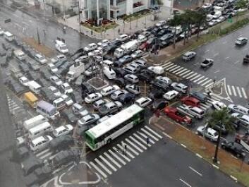 Trafikkaoset i Brasils millionbyer er beryktet, men langt fra enestående. (Foto: (Bilde fra Blogspot))