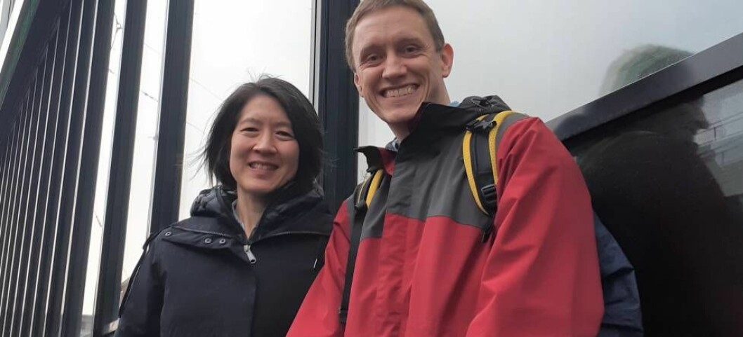 Professor Camille Li at UiB, with host and researcher Stephen Outten at NERSC.