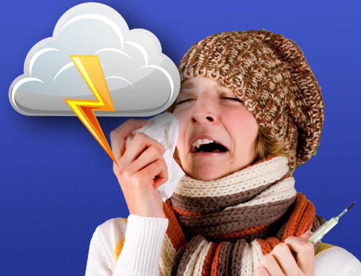 Regnemodellene til meteorologene kan også brukes til å forutsi hvordan influensa sprer seg, takket være raske oppdateringer på nettet. (Foto: (Bilde: www.colourbox.no, bearbeidet av forskning.no))