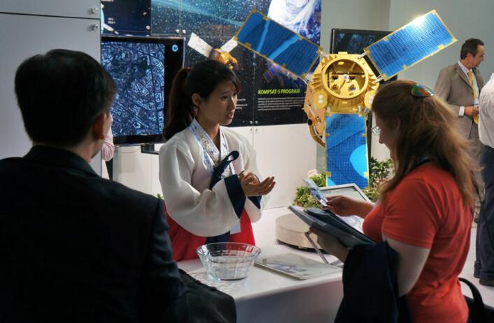 Standen til Sør-Korea på Den internasjonale romfartskongressen i Napoli, 2012. (Foto: Arnfinn Christensen)