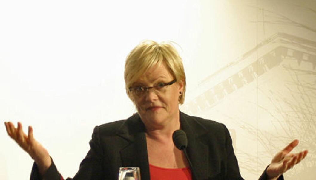 Kunnskapsminister Kristin Halvorsen. Andreas Graven