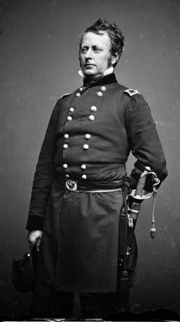 """Generalmajor Joseph """"Fighting Joe"""" Hooker  fikk kallenavnet sitt på grunn av en journalistisk feil. Men navnet ble værende. (Foto: Mathew Brady / wikimedia commons)"""