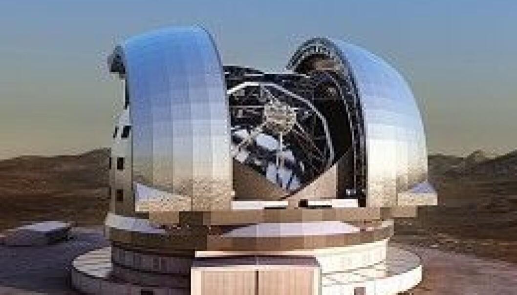 Skal bygge verdens største optiske teleskop