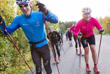 Eva Svensson og Øyvind Moen Fjeld satsar hardt både på ski og på studiar. Utøvarane i Team NTNU har 700-800 treningstimar i året. (Foto: Ole Morten Melgård)