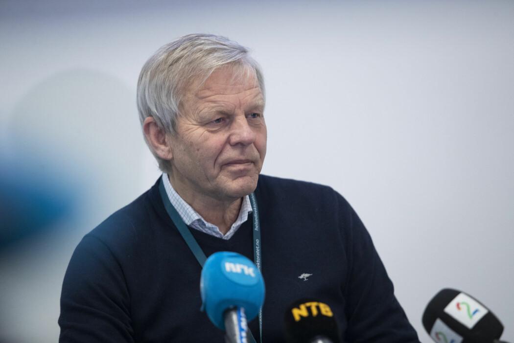 Fagdirektør Svein Lie i Helsedirektoratet orienterte mandag pressen om koronasituasjonen i Norge.