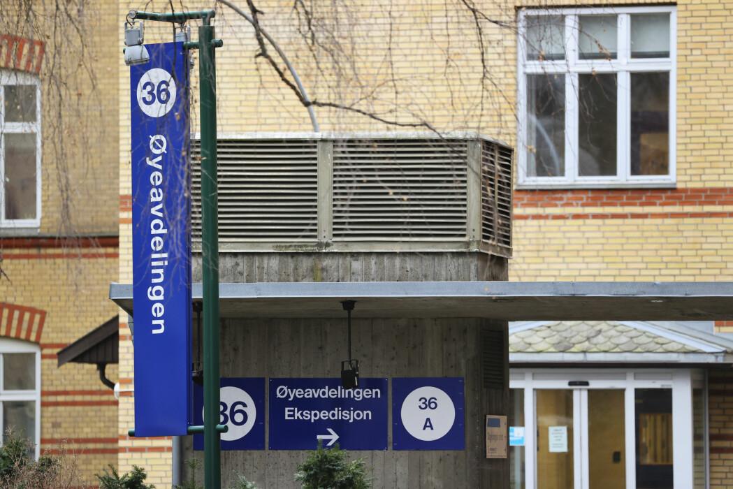 Øyeavdelingen ved Ullevål sykehus er denne uken stengt for alt annet enn øyeblikkelig hjelp.