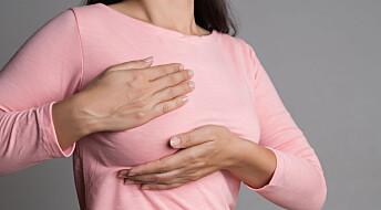 Brystkreft oppdages senere hos kvinner med silikon i brystene