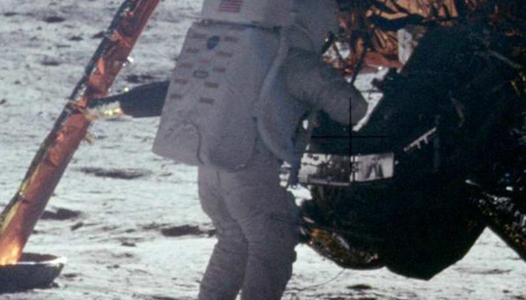 Neil Armstrong på månen. NASA