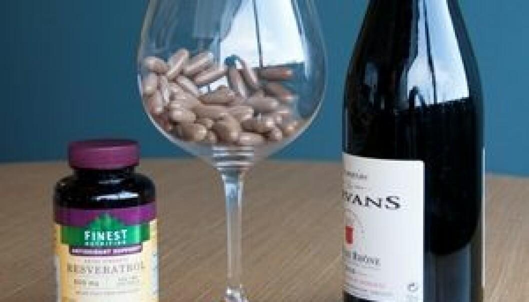 Resveratrol fra rødvin er godt for mange ting, men det ser ikke ut til at inntak av stoffet i pilleform har noen særlig effekt. Robert Boston