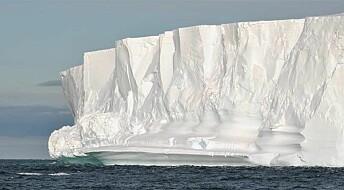 Isbremmer skjermer innlandsisen i Antarktis