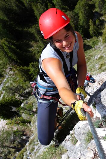 Fritidsaktiviteter kan brukes som et utgangspunkt i matematikkundervisningen. For eksempel kan fjellklatring fungere som en introduksjon til vinkler. (Illustrasjonsfoto: www.colourbox.no)