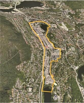 Mindemyren i Bergen strekker seg fra Fjøsangerveien i vest, Fabrikkgaten i nord, Leaparken i øst og Kristianborgvannet i sør.