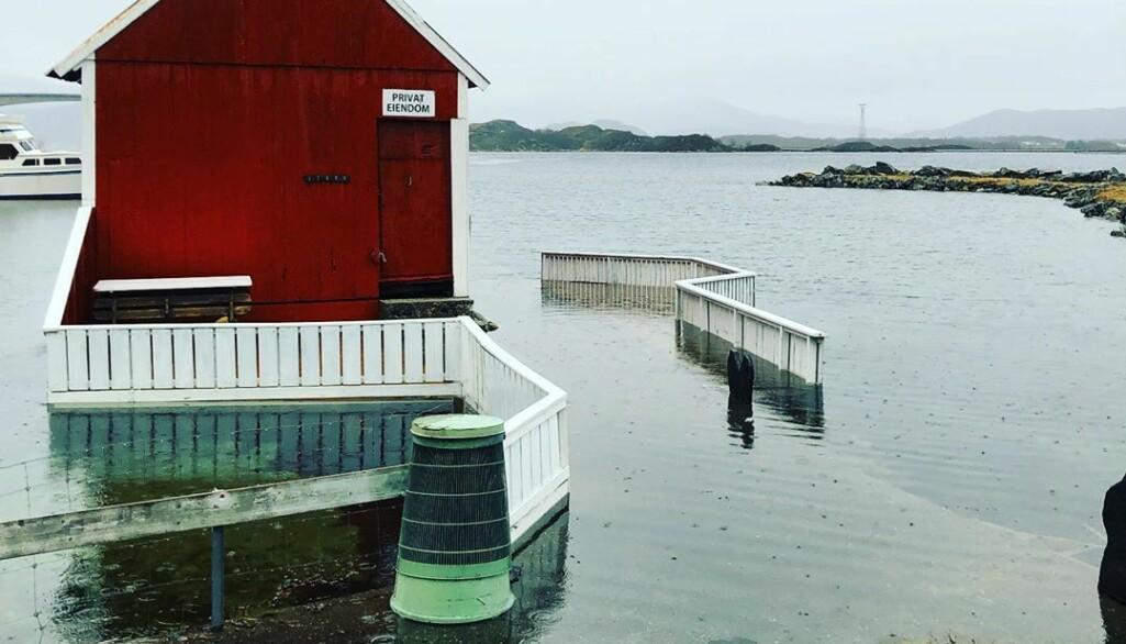 Høy vannstand i Møre og Romsdal i februar.