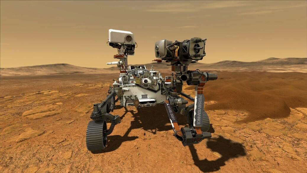 En grafikk av den nye Mars-roboten Perseverance