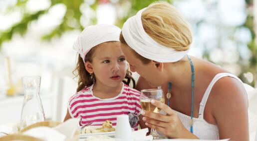 Barn fikk adferdsproblemer selv om mor bare drakk litt for mye