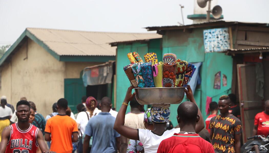 Gatelivet i Old Fadama, en uformell bosetting i hovedstaden Accra.