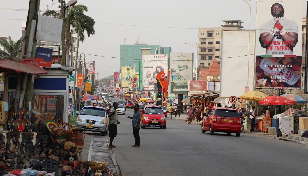 Oxford Street – en av hovedgatene i Accra.