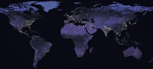 Fattigdom og krig er synlig fra verdensrommet