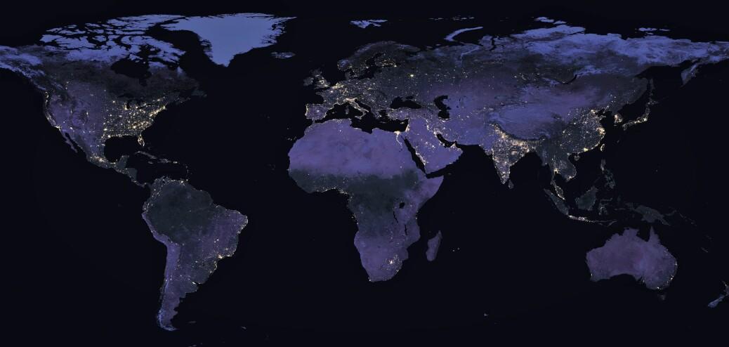 Verdensbilder tatt på natten viser menneskeskapte lys.