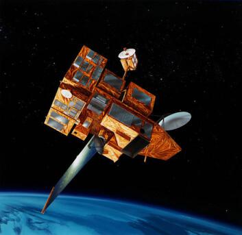 Satellitten ADEOS II ble ødelagt etter at den ble truffet av en solstorm i 2003 (Foto: NASA)