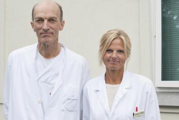 Cathrine Ebbing og Svein Rasmussen, to av forskerne som står bak den nye studien. (Foto: Helga Maria Sulen Sund, Haukeland Universitetssykehus)
