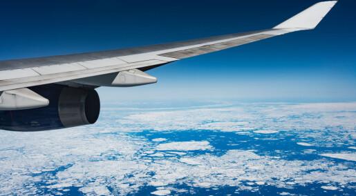Så mye sjøis smelter når du tar fly